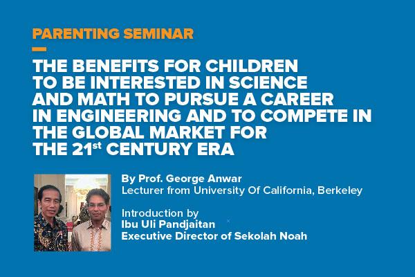 Parenting Seminar from Prof. George Anwar (USA) (PG, KG & EL)